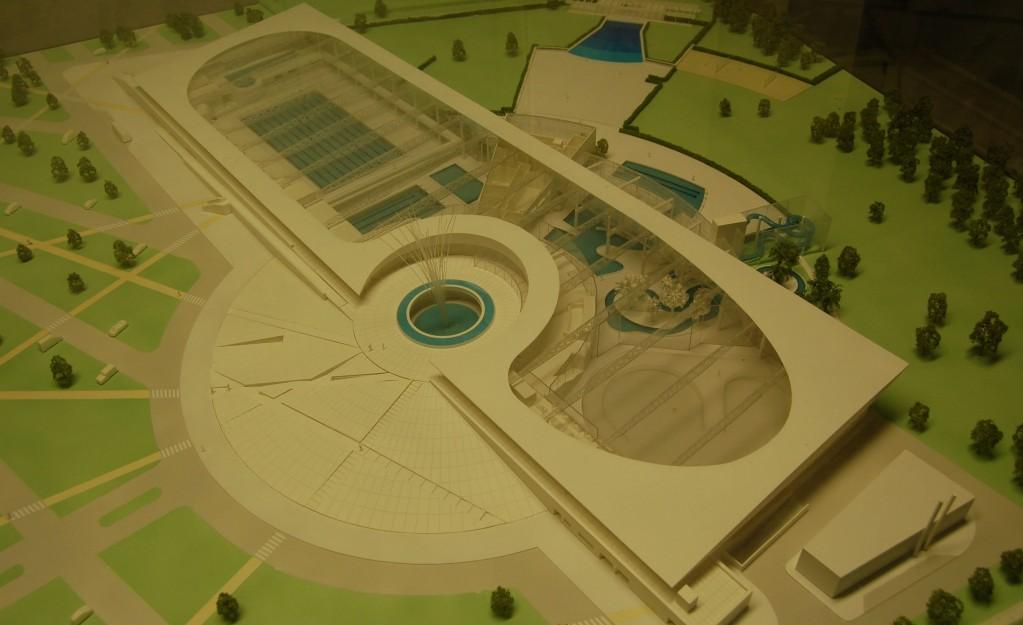 maquette du complexe aquatique