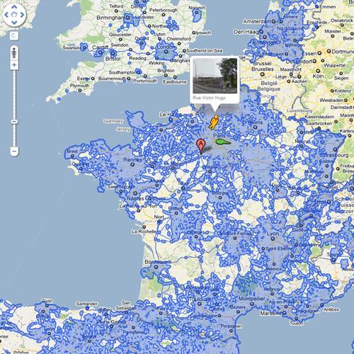 La France vue par Google Maps