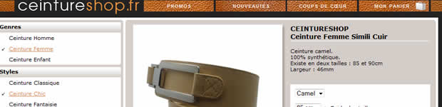 ceintures sur internet